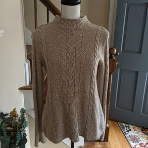 Gap Beige Cable Knit Sweater
